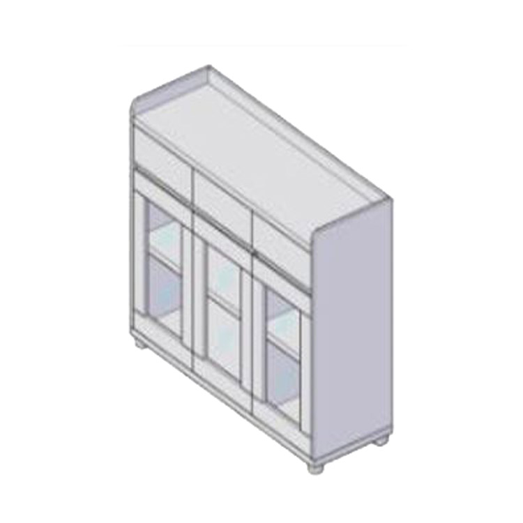 Glass door with drawer-CAB-TCG-22-1200*400*850