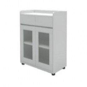 Glass door with drawer-CAB-TCG-22-800*400*850