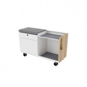 Double-Drawer Mobile Pedestal