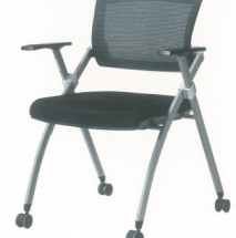 Foldable Black Office Chair with Wheels