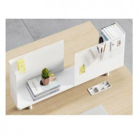 Desk-up Screen - made of steel and wood-550, 210*350 H GMZP01) I