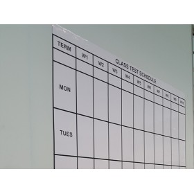 Printed Magnetic Whiteboard