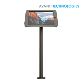 Maclocks Space Rise iPad 9.7 Pole Stand Kiosk Black