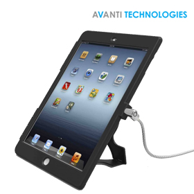 Maclocks iPad 9.7 Lock & Plastic Case Bundle with Key Cable Lock