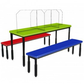 6 Seater Canteen Bench Separater